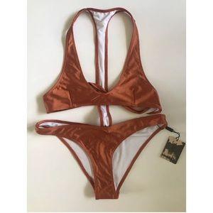 OneTeaspoon Swimsuit Monokini Bikini Bronze